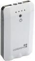 COLOROVO PowerBox 6800 mAh, akumulátor + svetlo, 3 koncovky, biely (CVP-PB-6800-WH)