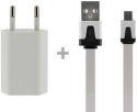 4-Ok Pack flat + Charger Usb White