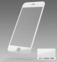 Sturdo 3D Ochranné sklo Fiber iPhone 6/6S biely karbón