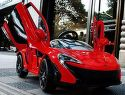McLaren červené detské auto