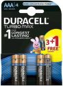 Duracell Turbo Max AAA batéria 3+1 ks
