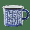 Štrbské Presso smaltovaný modrý hrnček Tatry 2dcl