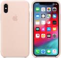 Apple silikónový kryt pre iPhone XS, pieskovo ružový