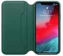 Apple kožené puzdro Folio pre iPhone XS, píniovo zelená