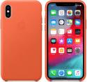 Apple kožený kryt pre iPhone Xs Max, oranžový