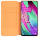 Samsung Wallet flipové puzdro pre Samsung Galaxy A40, biela