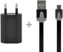 4-Ok Pack flat + Charger Usb Black