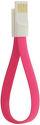 4-Ok Usb-Microusb Magneflat 20 Cm Pink