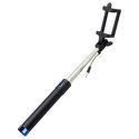 Mobilnet selfie tyč s 3,5 mm konektorom 78 cm, modrá