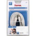 Hama 42965 anténny kábel 75dB, biely, 10m