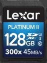 Lexar 128GB SDXC 300x Platinum II Class 10 UHS-I