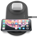 CellularLine duálna bezdrôtová nabíjačka 2x10W, čierna