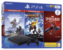 Sony PlayStation 4 Slim 500GB + Spider-Man, Horizon Zero Dawn, Ratchet & Clank