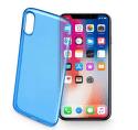Cellular Line Fine gélové puzdro pre iPhone X, modrá