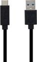 Mobilne USB-C kábel 3A 1m, čierna