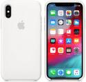 Apple silikónový kryt pre iPhone XS Max, biely