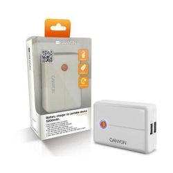 Canyon CNA-C03052B powerbanka s nabíjačkou 5200 mAh, biela