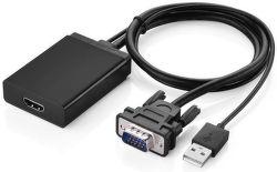 UGREEN 40213 VGA+Audio+napájanie na HDMI konvertor - čierny