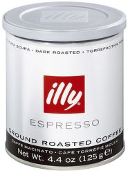 Illy Espresso Dark mletá káva (125g)