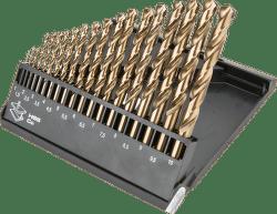 GRAPHITE Vrták do kovu HSS-Co sada 1,0 - 10,0 mm, 19 ks