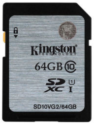 KINGSTON 64GB SDXC Class10