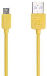 Remax dátový kábel Micro USB 1 m žltý