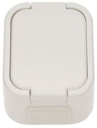 Solight 5D06 - zásuvka do vlhka s viečkom, biela
