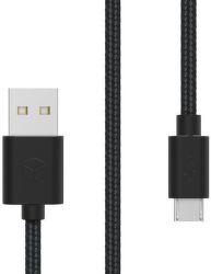 Sturdo Micro USB kábel 2A 1,5m, čierna