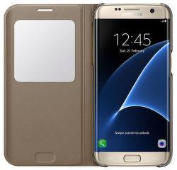 Samsung EF-CG935PF Flip S-View Galaxy S7e (zlaté) vystavený kus s plnou zárukou