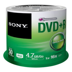 Sony DVD+R 4,7GB 16x, 50ks