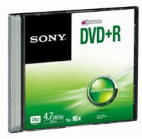 Sony DVD+R 4,7GB, 16x, 1ks