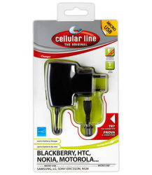CellularLine cestovná nabíjačka CellularLine s konektorom microUSB, 1A
