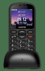 Aligator A880 + nabíjací stojanček, A880BK čierny