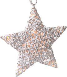 Solight 1V41, ratanová hviezda, 10xLED, časovač