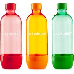 Sodastream 3pack červená/oranžová/zelená náhradná fľaša (1l/3ks)