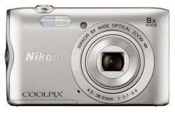 Nikon Coolpix A300 (strieborný)