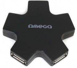 Omega 4 PORT STAR čierny USB hub