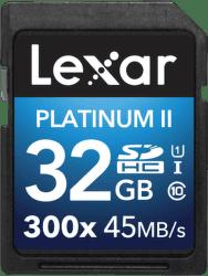 Lexar 32GB SDHC 300x Platinum II Class 10 UHS-I