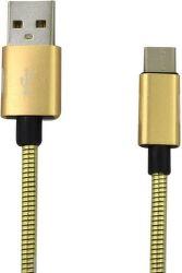Mobilnet Micro USB kábel 2A 1m, zlatá