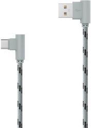 Mobilnet dátový kábel USB-C 2 m, sivá