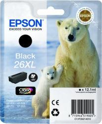 EPSON T2621 26XL black  (ľadový medveď) - atrament