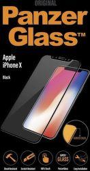 Panzerglass tvrdené sklo pre iPhone X, čierna