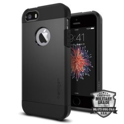 SPIGEN iPhone 5/5S/SE Case Tough Armor, čierna