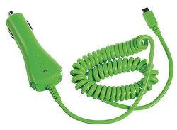 CELLY autonabíjačka microUSB, green
