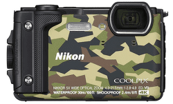 Nikon Coolpix W300 kamufláž + plávajúci popruh