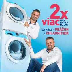 2x viac NAY Extra bodov za nákup práčok a chladničiek