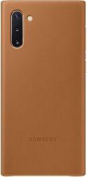 Samsung Leather Cover pre Samsung Galaxy Note10, hnedá