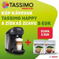 5€ zľava na sety kávovarov Bosch Tassimo
