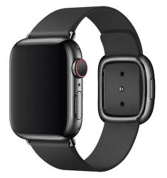Apple Watch 40 mm kožený remienok s magnetickou prackou malý, čierny