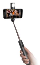 SBS Bluetooth selfie tyč s odpojiteľným bleskom, čierna